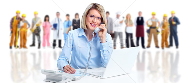Secretary woman and group of workers. Stock photo © Kurhan