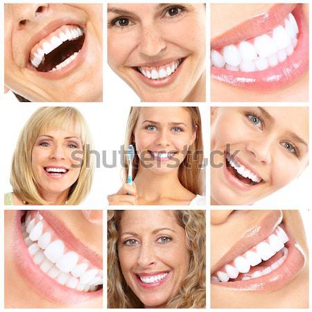Happy smiling faces. Stock photo © Kurhan