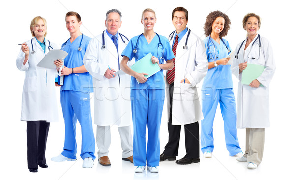 Group of medical doctors and nurses. Stock photo © Kurhan