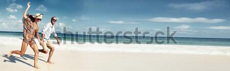 Woman on the beach Stock photo © Kurhan