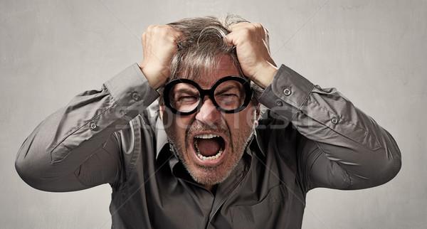 öfkeli adam öfke portre insanlar yüz Stok fotoğraf © Kurhan