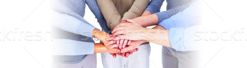People hands together Stock photo © Kurhan