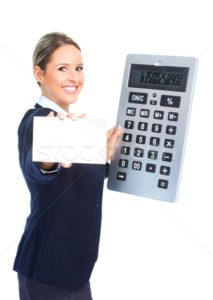 Accountant business woman Stock photo © Kurhan