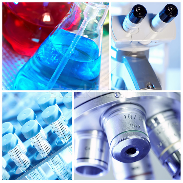 Scientific background collage. Stock photo © Kurhan
