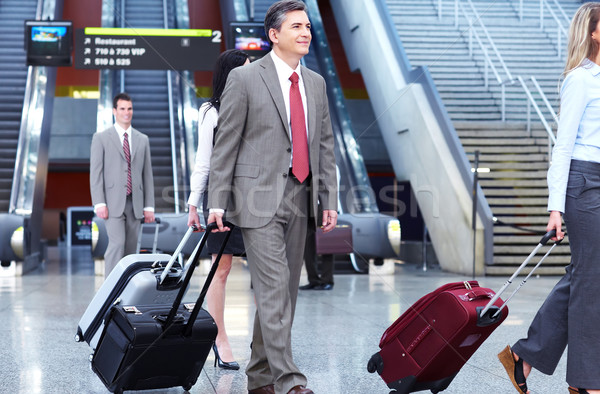 Stock photo: Group of business people at the airport.