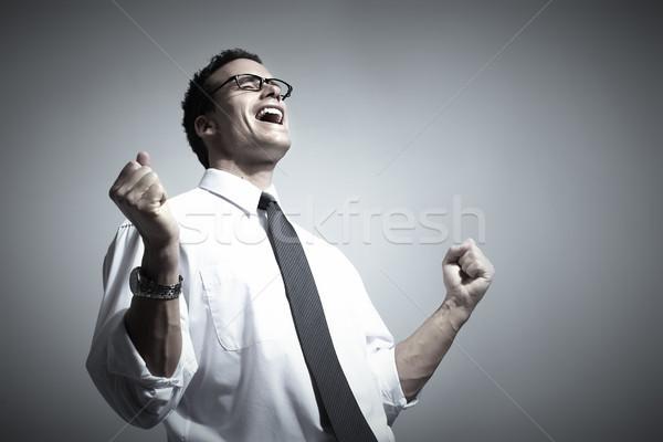 Feliz jóvenes empresario éxito negocios moda Foto stock © Kurhan