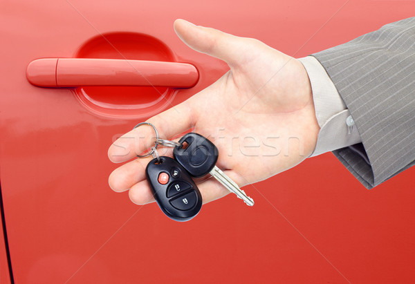 Araba anahtarları oto araba el anahtar Stok fotoğraf © Kurhan