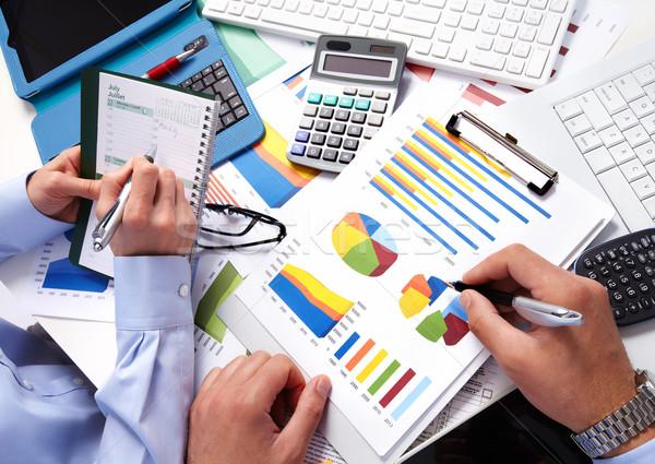 Сток-фото: бизнес-команды · рабочих · служба · стороны · калькулятор · Финансы