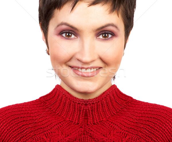 Bela mulher cara belo mulher jovem isolado branco Foto stock © Kurhan