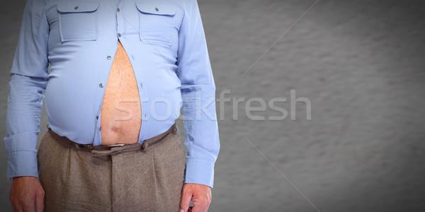 Fettleibig Mann Abdomen Fettleibigkeit Gewichtsverlust Körper Stock foto © Kurhan