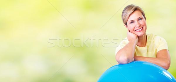 старший женщину йога спорт тело Сток-фото © Kurhan