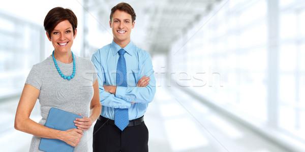 üzleti csoport csoport üzletemberek kék iroda üzlet Stock fotó © Kurhan