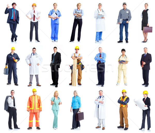 Set of workers business people. Stock photo © Kurhan