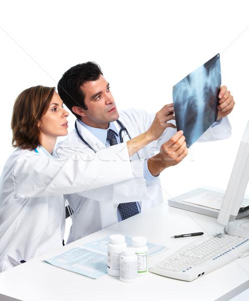 Photo stock: Médicaux · médecins · xray · souriant · isolé · blanche