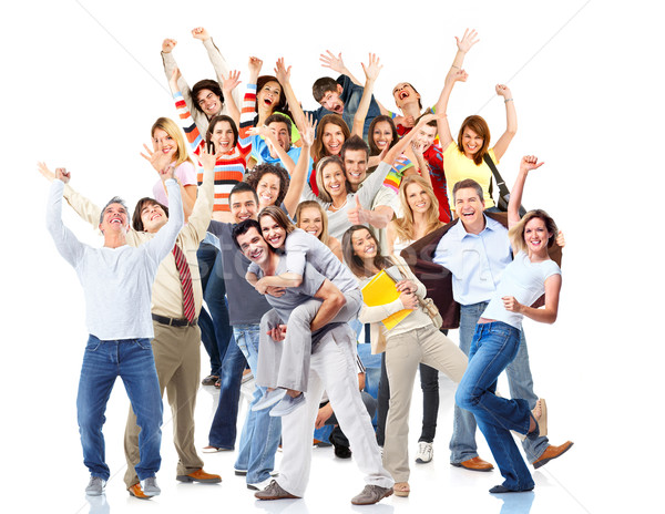 Group of happy people. Christmas party. Stock photo © Kurhan