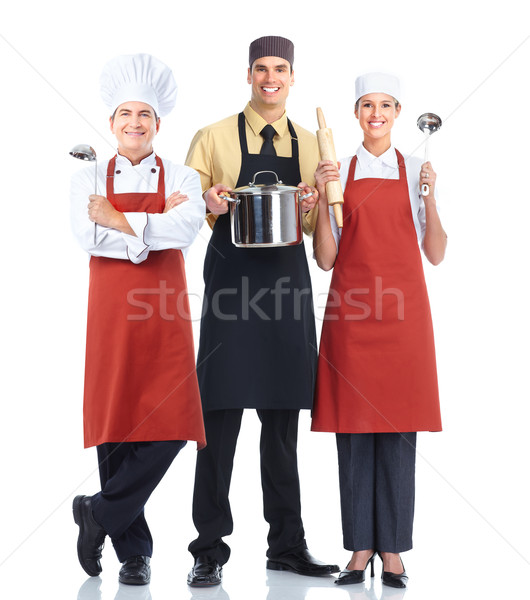 Stock photo: Chef baker group.