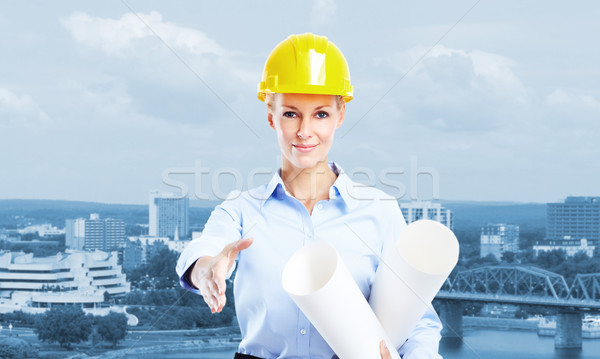 Woman Architect. Stock photo © Kurhan