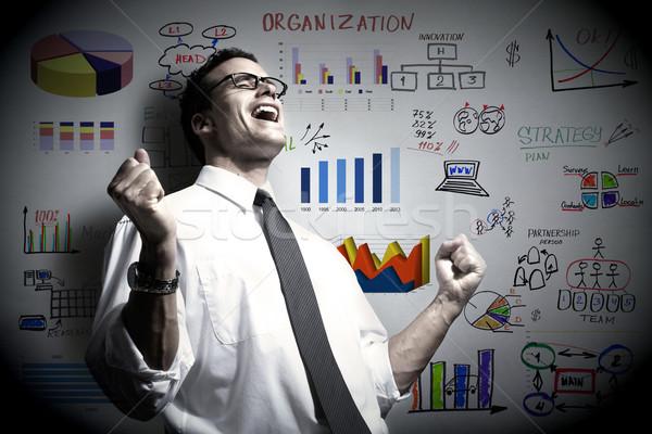 Imprenditore business organizzazione uomo felice sfondo Foto d'archivio © Kurhan