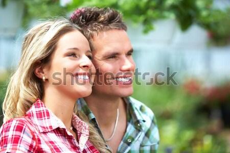 Amore Coppia giovani felice sorridere giardino Foto d'archivio © Kurhan