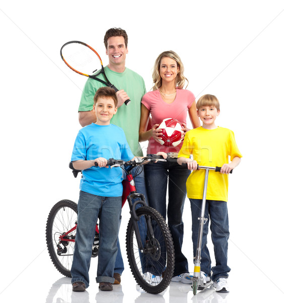 Happy sportive family Stock photo © Kurhan