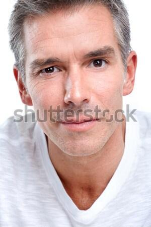 Anziani senior uomo isolato bianco faccia Foto d'archivio © Kurhan