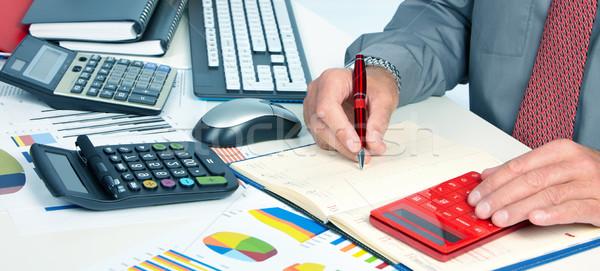 Hands of accountant man Stock photo © Kurhan