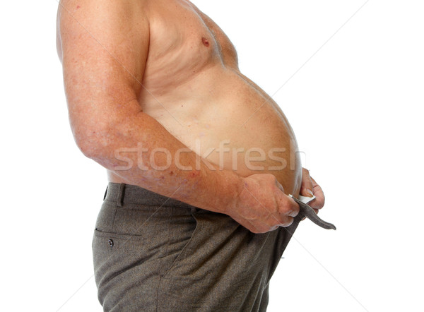 Fat man belly. Stock photo © Kurhan