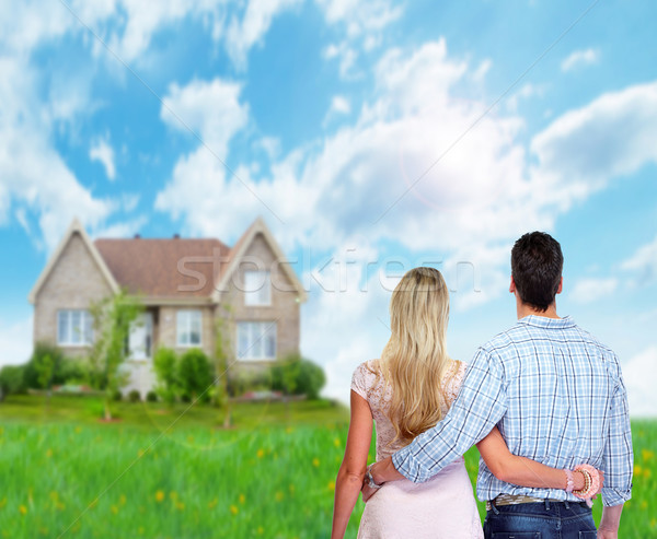 Young couple looking new home. Stock photo © Kurhan