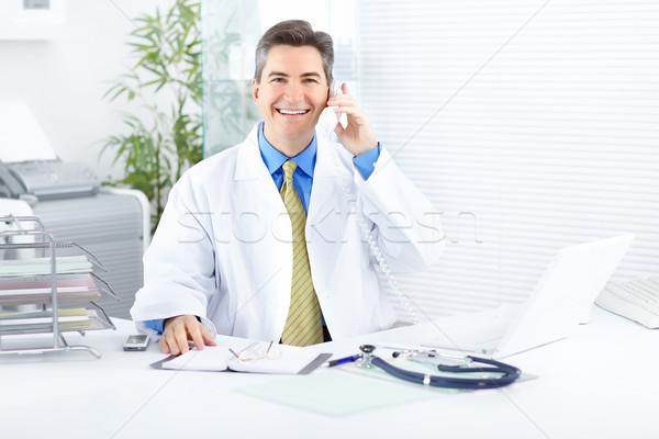 Stockfoto: Arts · medische · werken · laptop · kantoor · business