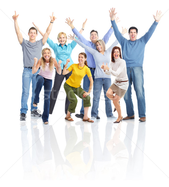 Boldog emberek izolált fehér nő család nők Stock fotó © Kurhan