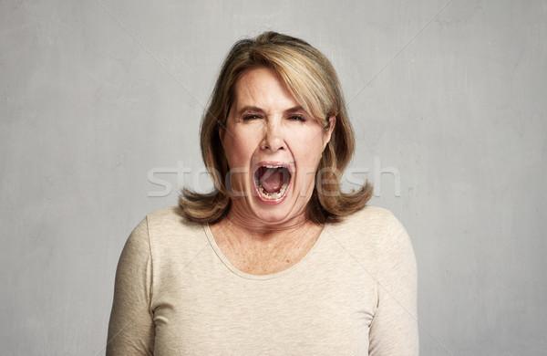 Angry woman Stock photo © Kurhan