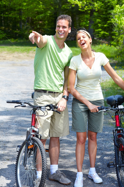 Riding couple. Stock photo © Kurhan