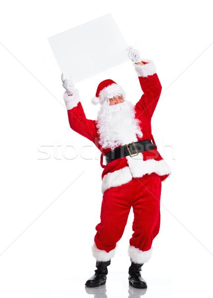 Zdjęcia stock: Święty · mikołaj · plakat · szczęśliwy · christmas · banner · odizolowany