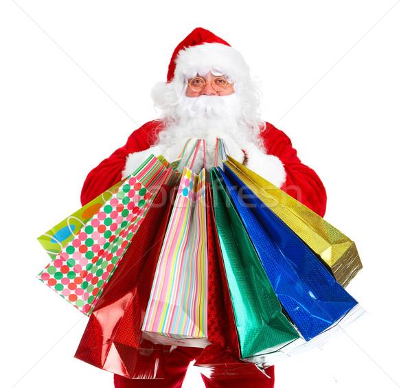 Santa Claus with a shobbing bag. Stock photo © Kurhan