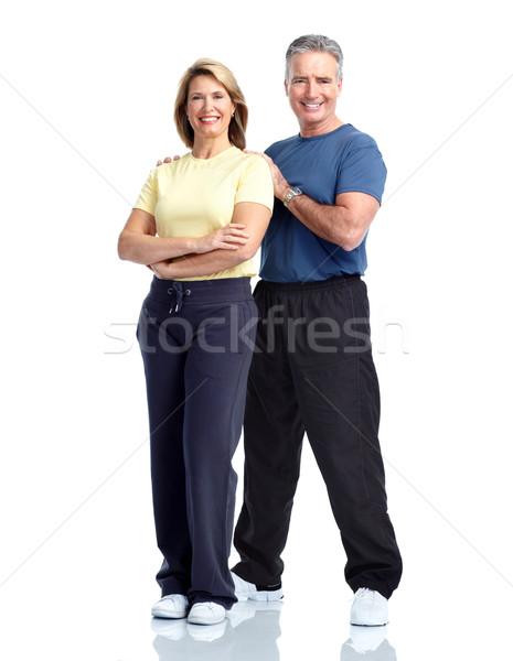 Senior fitness. Stock photo © Kurhan