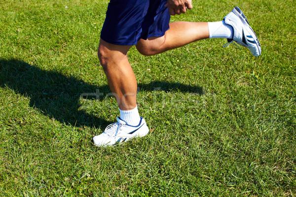 Jogging man feet. Stock photo © Kurhan