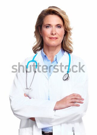 Doctor woman with a stethoscope. Stock photo © Kurhan