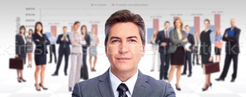 Ejecutivo empresario grupo gente de negocios negocios mujer Foto stock © Kurhan