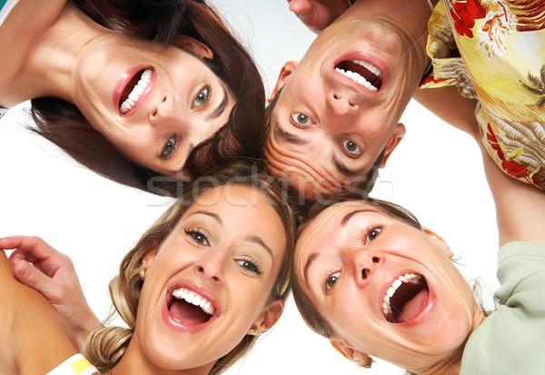 Boldog emberek fiatal izolált fehér gyerekek arc Stock fotó © Kurhan