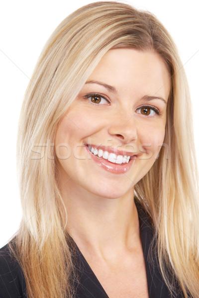 ビジネス女性 小さな 笑みを浮かべて 成功した 白 女性 ストックフォト © Kurhan