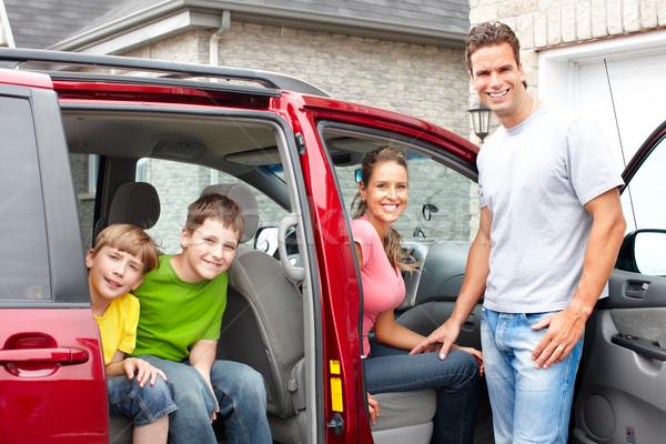 Család autó mosolyog boldog család nő gyermek Stock fotó © Kurhan