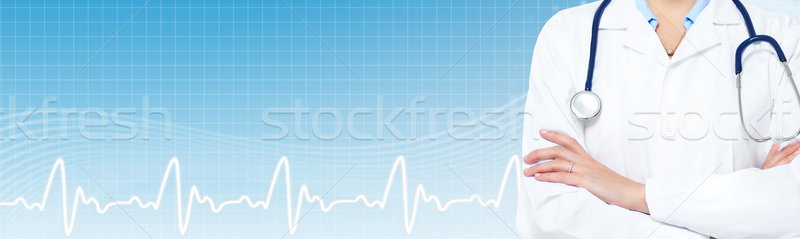 Doctor woman hands. Stock photo © Kurhan