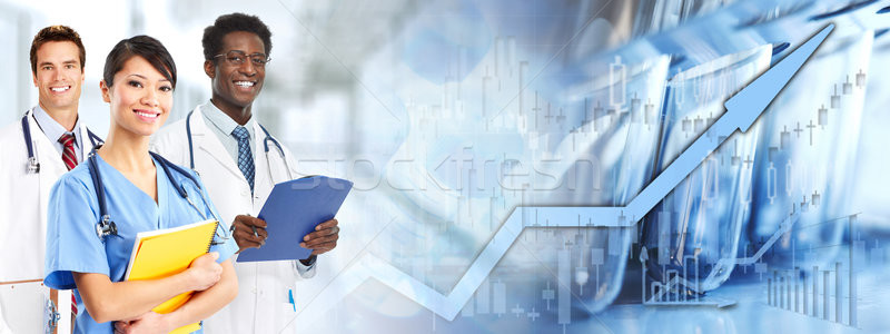 Afroamerikai kínai orvos csapat orvosok csoport Stock fotó © Kurhan
