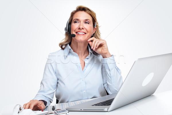 Customer service representative woman. Stock photo © Kurhan