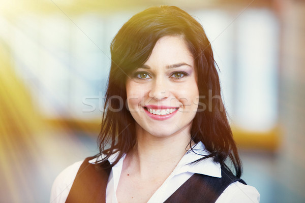 Smiling business woman Stock photo © Kurhan