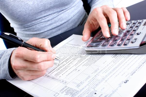 Stok fotoğraf: Vergi · form · doldurma · 1040 · standart · gelir