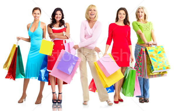 Women with shopping bags. Stock photo © Kurhan