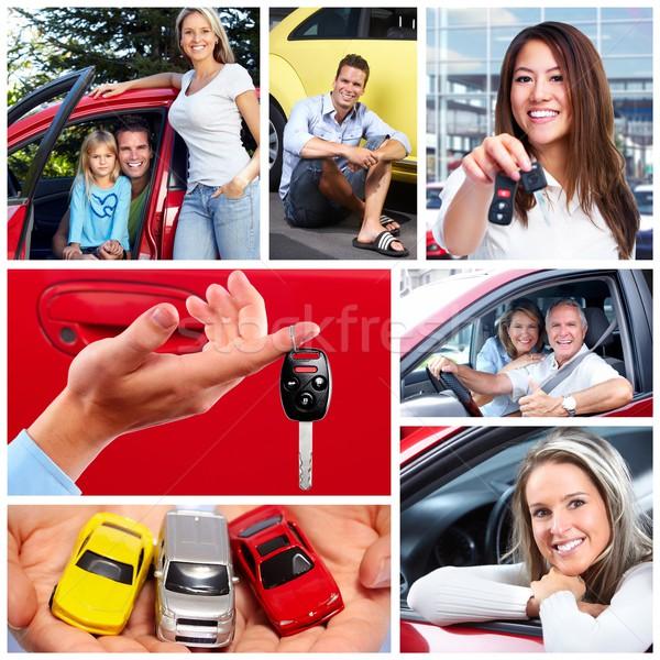 счастливым пару Новый автомобиль счастливая семья вождения семьи Сток-фото © Kurhan