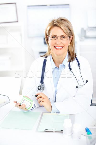 Medico medici donna ufficio business felice Foto d'archivio © Kurhan