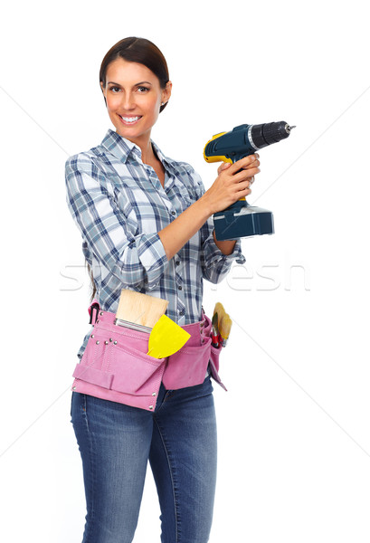 Woman with a drill. Stock photo © Kurhan